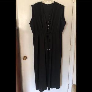 Sleeveless vest, long